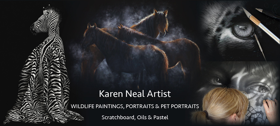 Wildlife paintings, portraits & pet portraits by New Zealand Artist Karen Neal