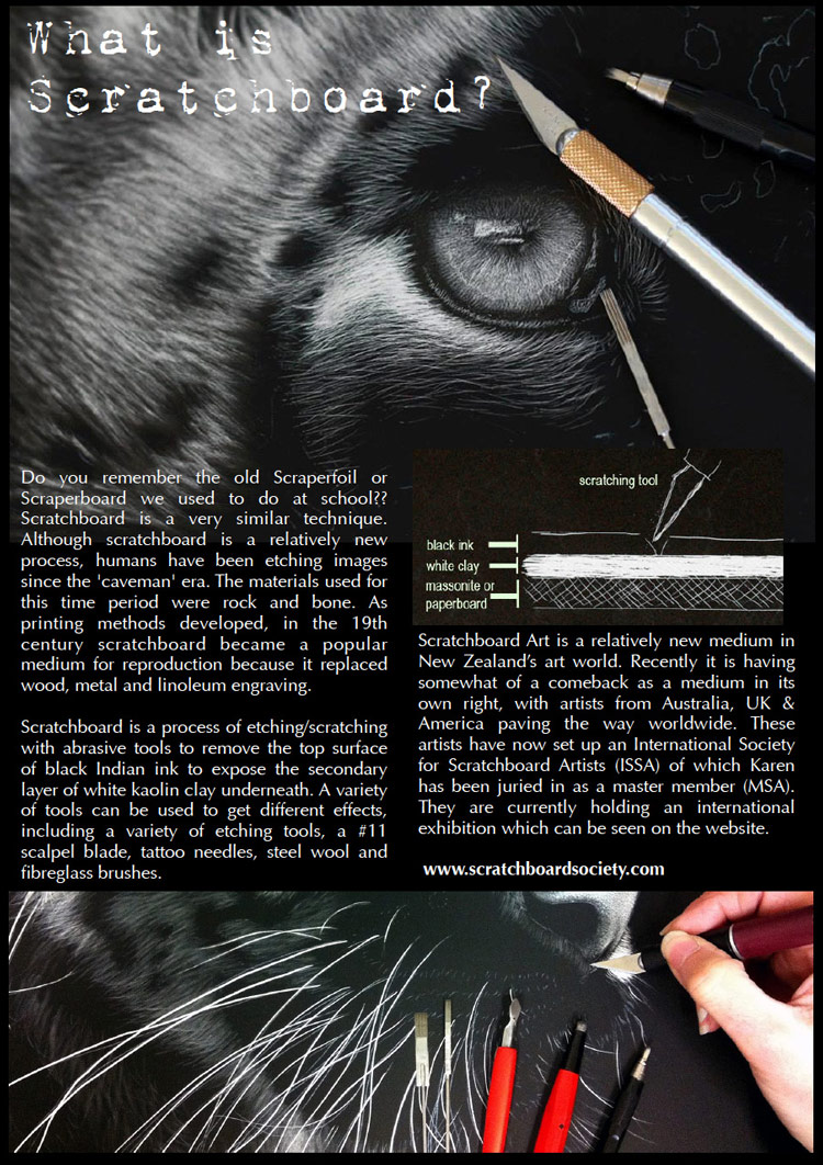 What is scratchboard?
